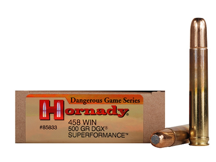 Hornady's new Superformance ammunition is able to deliver all the ballistics the .458 Winchester Magnum was created to deliver. (Picture courtesy midwayusa.com).
