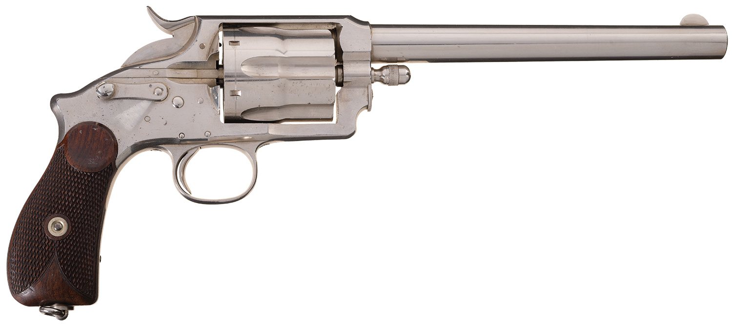 The Wetmore-Wells revolver had a solid frame and was made in both automatic ejector and manual ejector models.