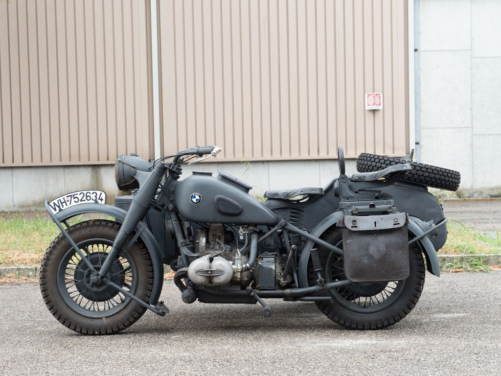 The BMW R75 military motorcycle combination coming up for sale by RM Sotheby's.