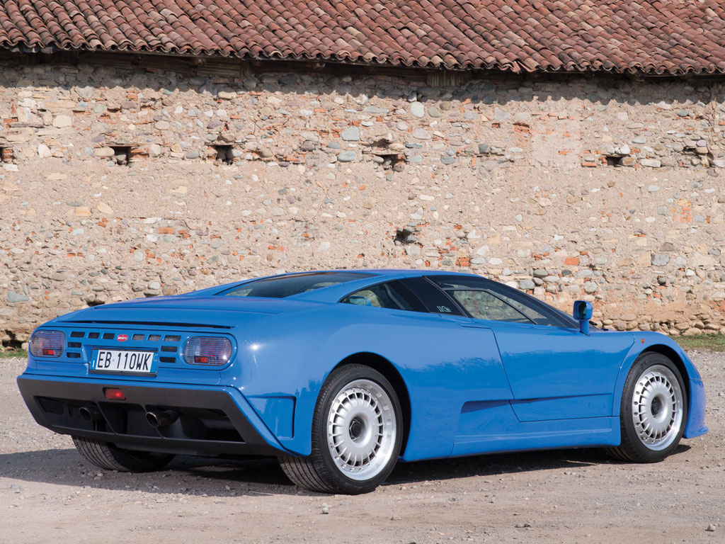 Despite its supercar status the Bugatti EB110's styling is tastefully understated.