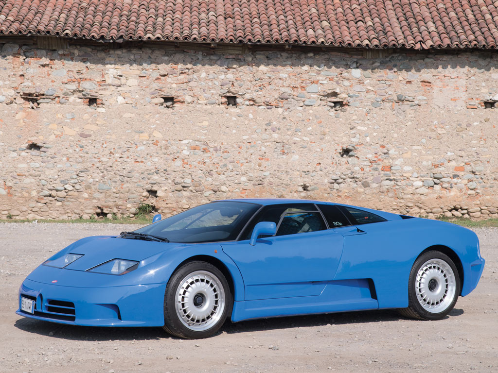 The Bugatti EB110 combined a Bugatti heritage with design by French co-designers of the Concorde Aérospatiale and blended the two into a car that was every inch a potential Lamborghini and Ferrari beater.