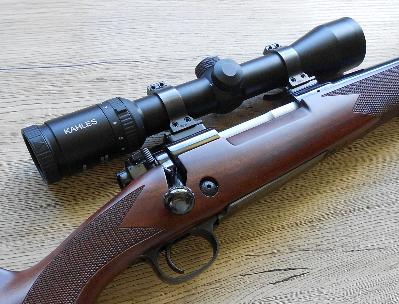 Captured in this picture are twelve reasons a rifle owner needs a good torque screwdriver. There are eight rifle-scope ring screws visible and another two on the left side of the rifle that are not visible. There are also two action screws.