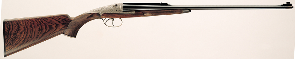 A Darne sliding breech double rifle. Darne double rifles are made in metric calibers 8x57JRS, 9,3x74R, and American/British calibers .300 Winchester Magnum and the venerable .375 Holland and Holland Magnum. (Picture courtesy Darne).