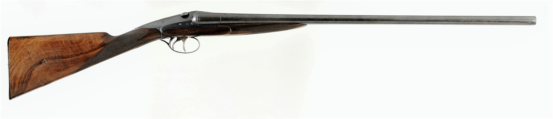 """The reason for the """"between the hands"""" liveliness of the Darne is apparent in this picture. Note the weight concentrated in the action area immediately above and behind the triggers. (Picture courtesy rockislandauction.com)."""