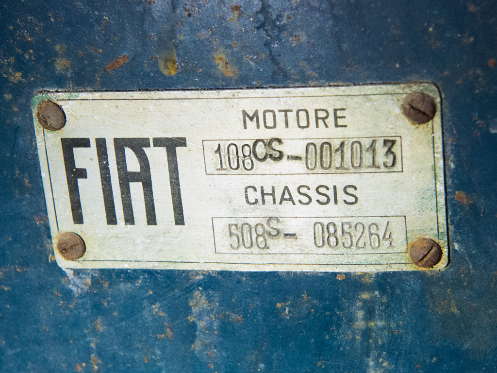 The builder's plate indicates that this car has the 1080cc OHV engine and that it is a 508S. (Picture courtesy RM Sotheby's).