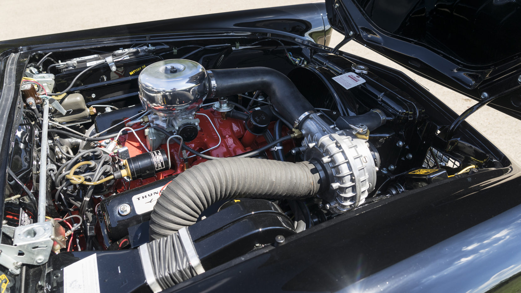 With the Paxton-McCulloch VR57 supercharger the F-Code Ford Thunderbird was capable of around 130mph.