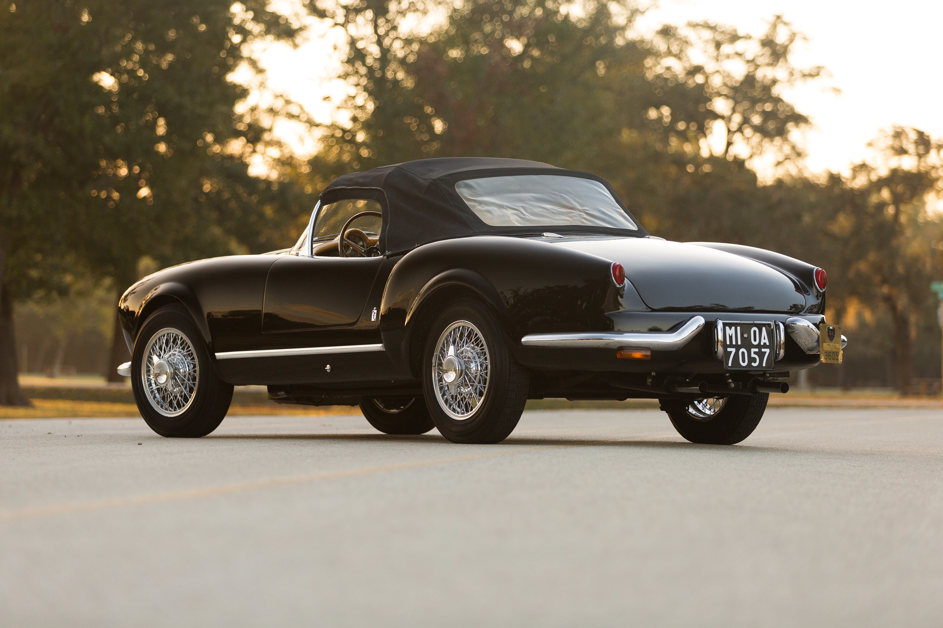 This Lancia Aurelia B24S Spider America's Pininfarina styling is strikingly eye catching from every angle.