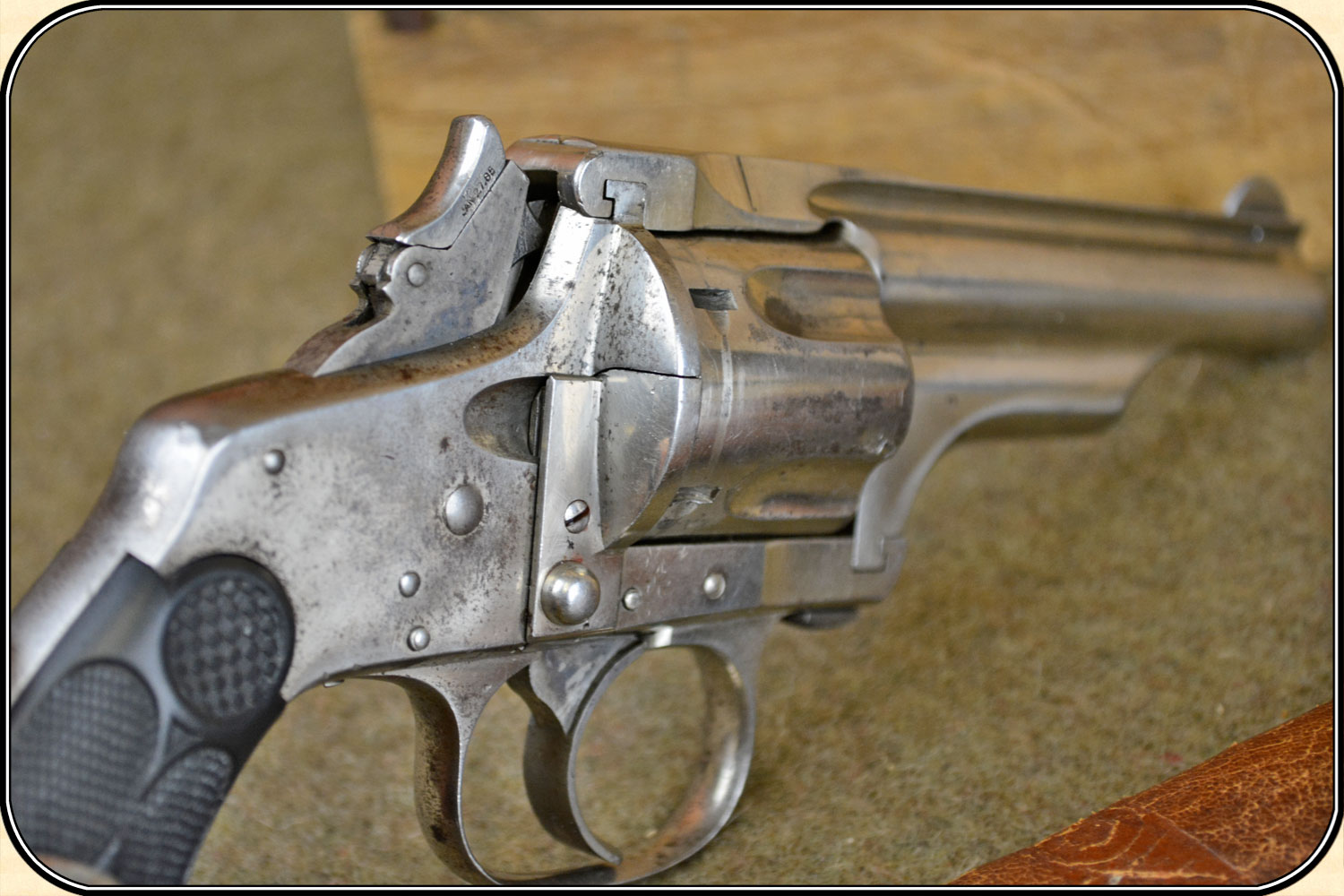 A casual look at the rear of a Merwin Hulbert revolver reveals a conventional looking loading gate and loading the revolver is quite conventional. It is the unloading that is startlingly different. (Picture courtesy riverjunction.com).
