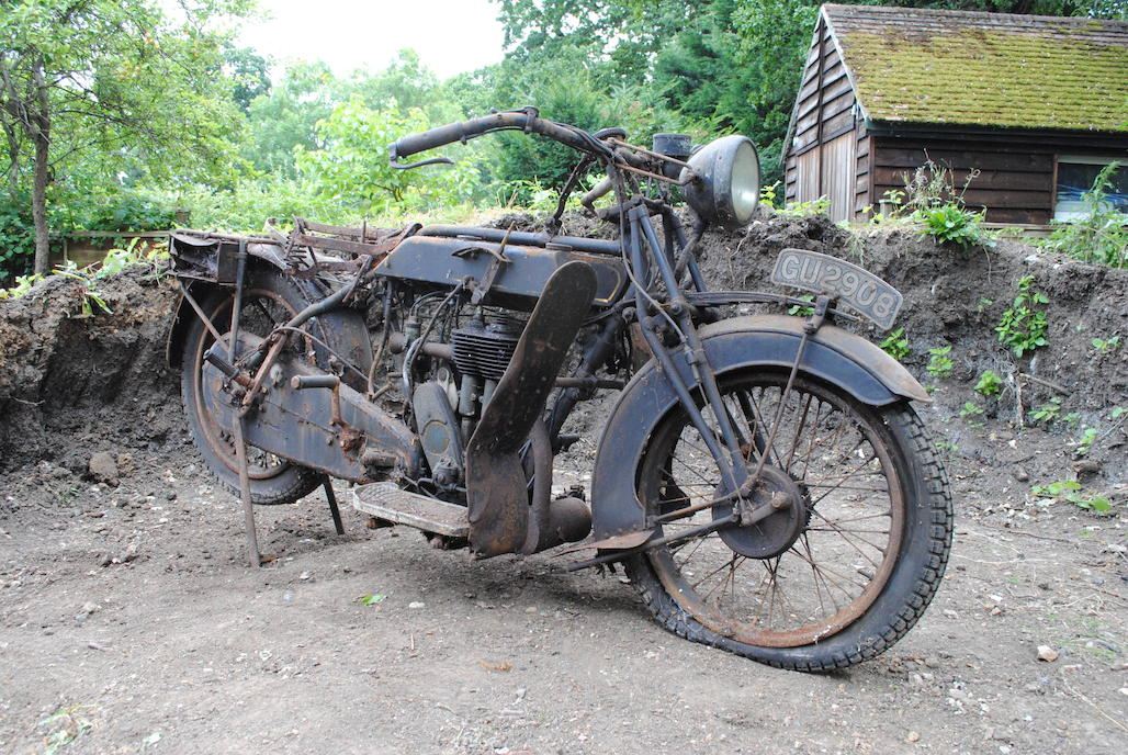 This 1929 Sunbeam looks to be complete and original but it will require a complete stripping down and restoration.