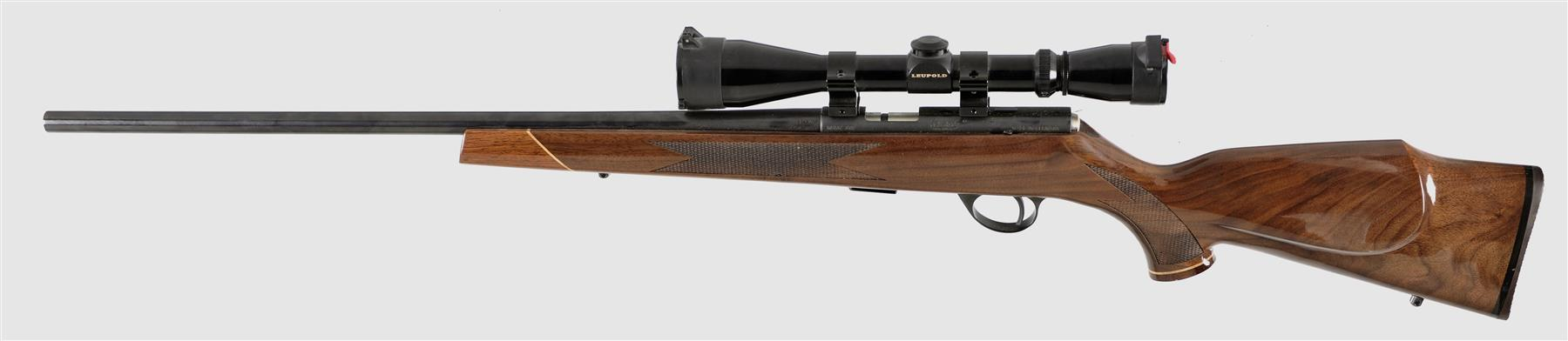 Left side vew of the J.G. Anschutz made Weatherby Mark XXII for sale by Rock Island Auction) (Picture courtesy Rock Island Auction).