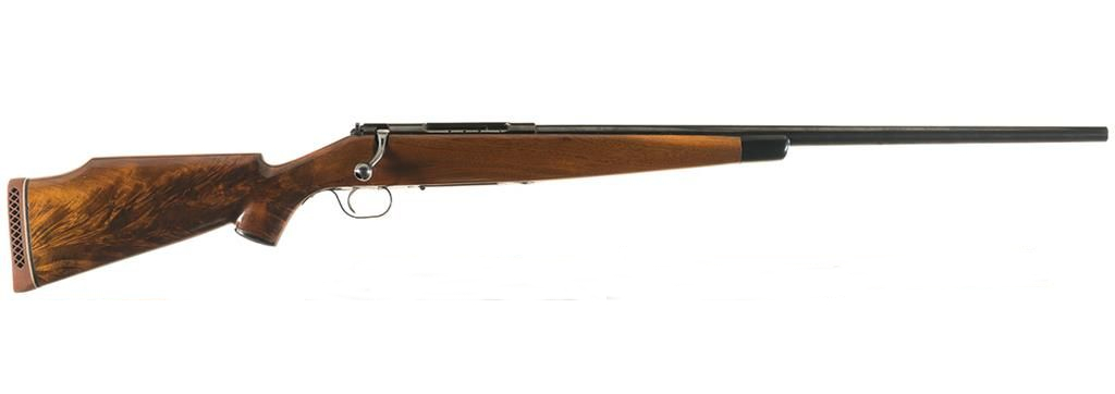 Custom rifle built on the Schultz & Larsen action. This was the action Roy Weatherby began using for his .378 Weatherby Magnum Rifles in 1956. (Picture courtesy icollector.com).