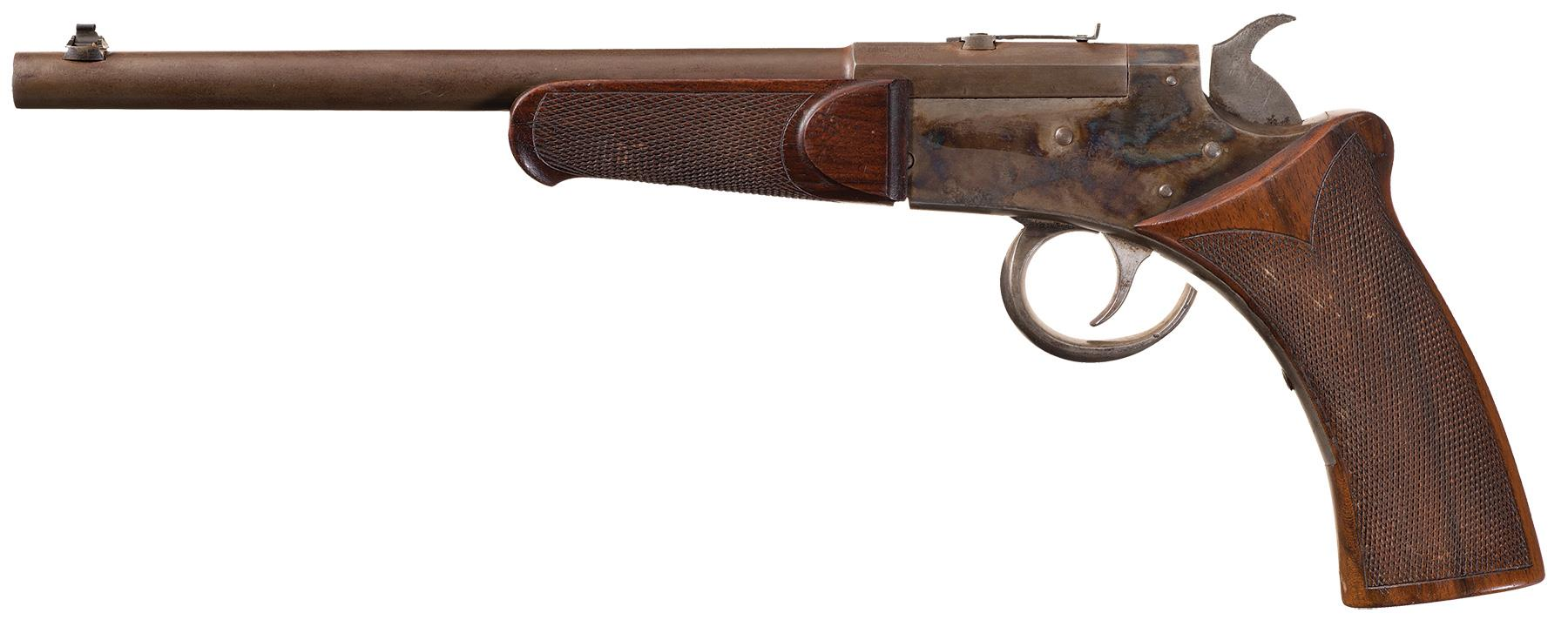 This American pistol is marked as being made by the Target Pistol Company of Philadelphia.