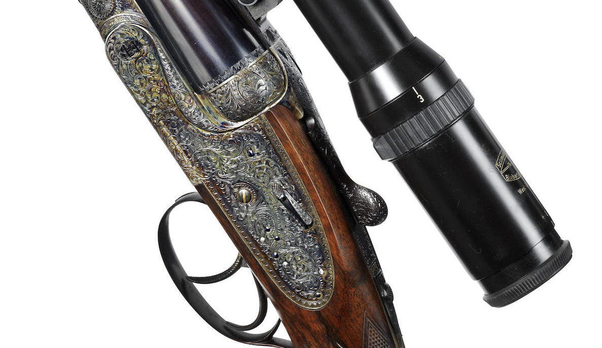 The side locks of this Holland & Holland Royal double rifle are hand detachable so they can be conveniently removed and given a bit of a clean with a toothbrush and a light smear of Ballistol to keep everything in top shape on a hunt.