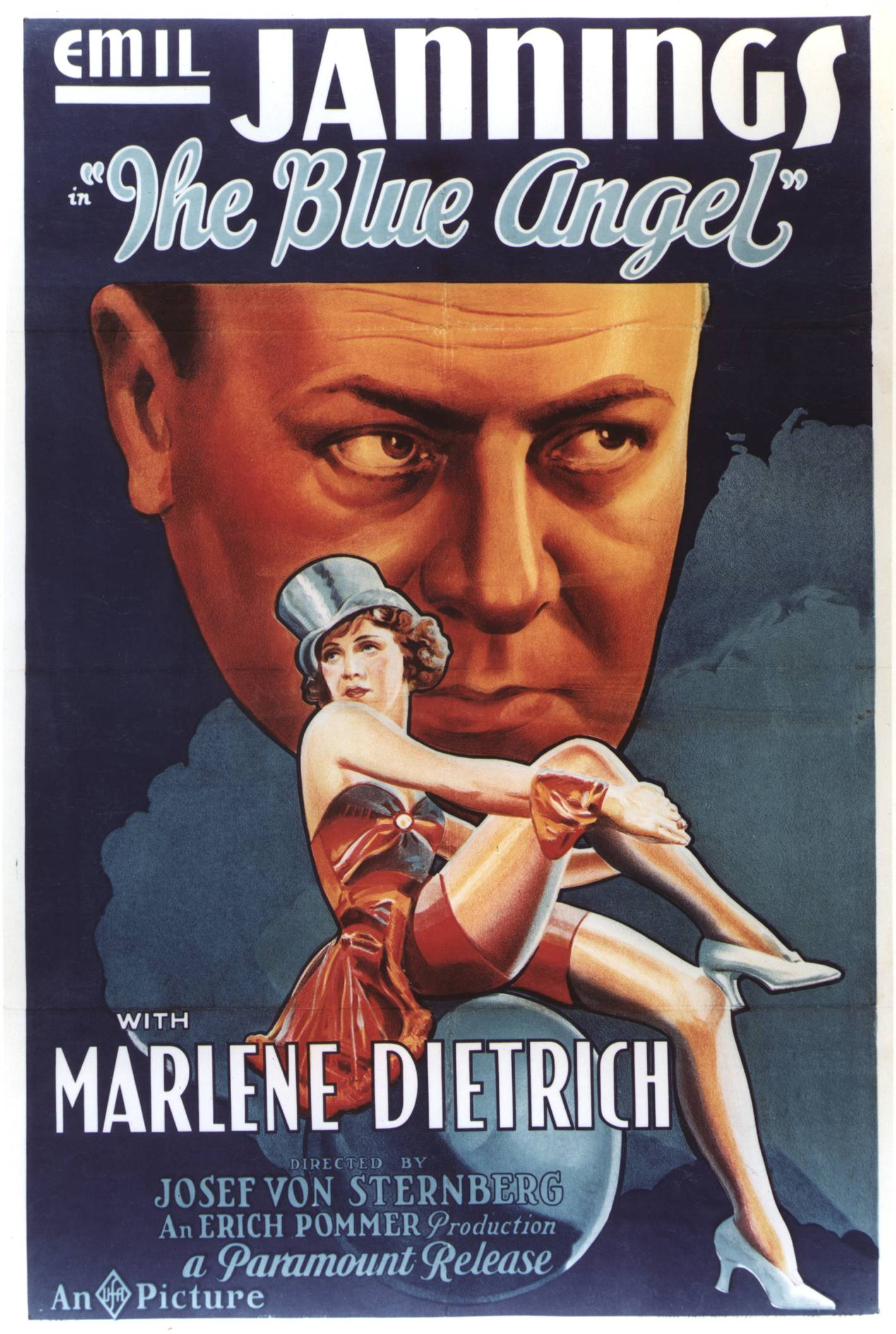 "Poster for Josef von Sternberg's classic movie ""The Blue Angel"" starring Marlene Dietrich. (Picture courtesy themindreels.com)."
