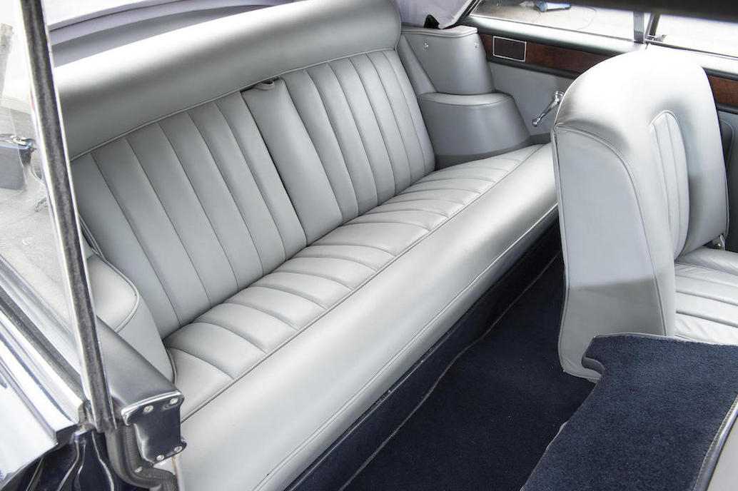 As a full length Rolls Royce the rear seat is luxurious and leg room is ample.