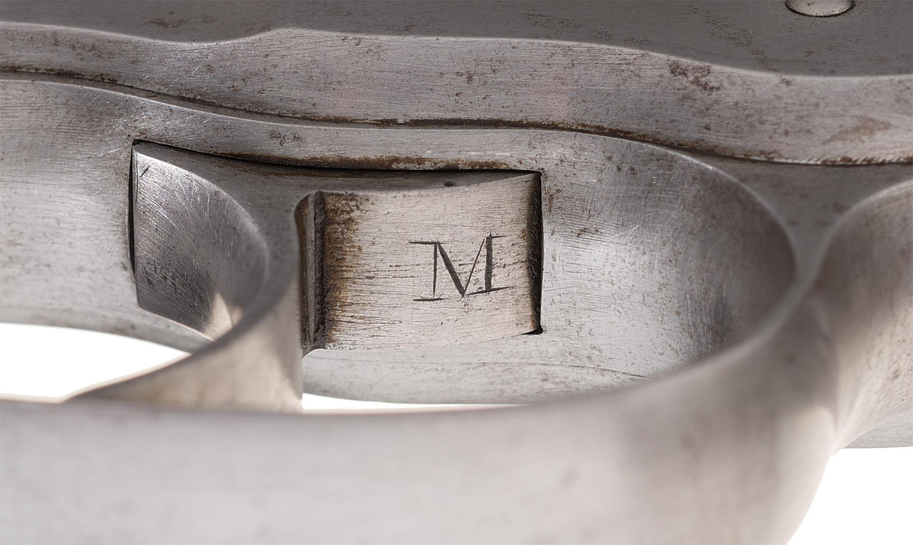 "The mystery ""M"" engraved under the trigger may be William Mason's mark."