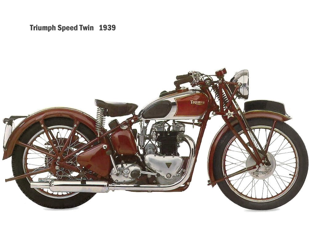 Triumph Speed Twin of 1939. (Picture courtesy Zanacco.com).
