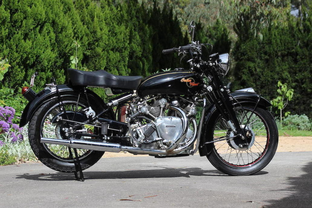 The complete second prototype that was built by Vincent HRD in 1949.