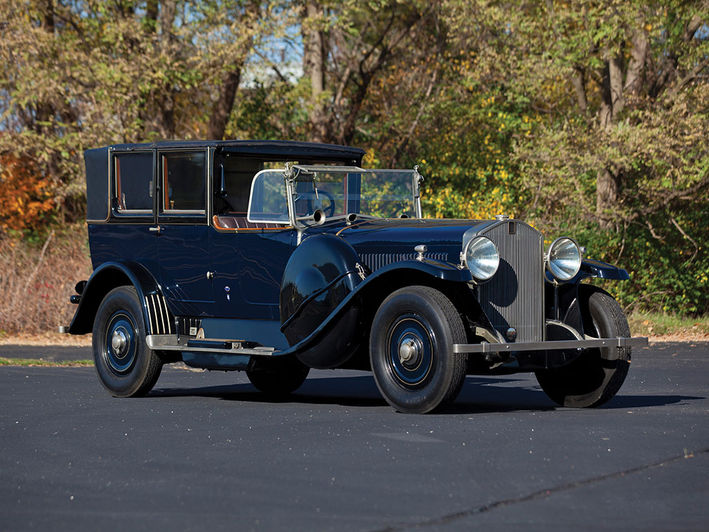 1924 Isotta Fraschini Tipo 8A Landaulet with coachwork by Sala, later customized by Riva.