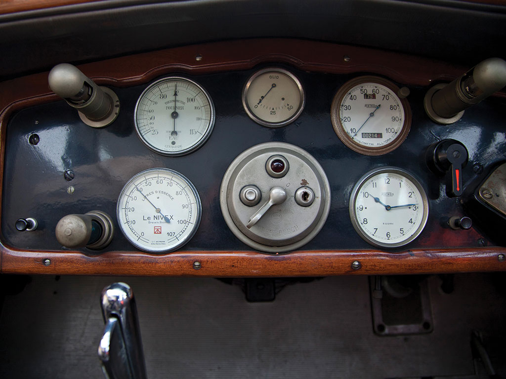 Dashboard instrumentation and controls are in near new original condition.