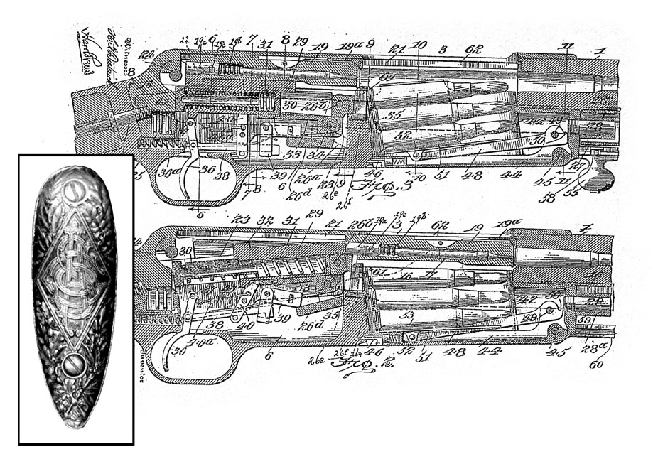 Cross section drawing of the Standard Arms Model G. (Picture courtesy gundigest.com).