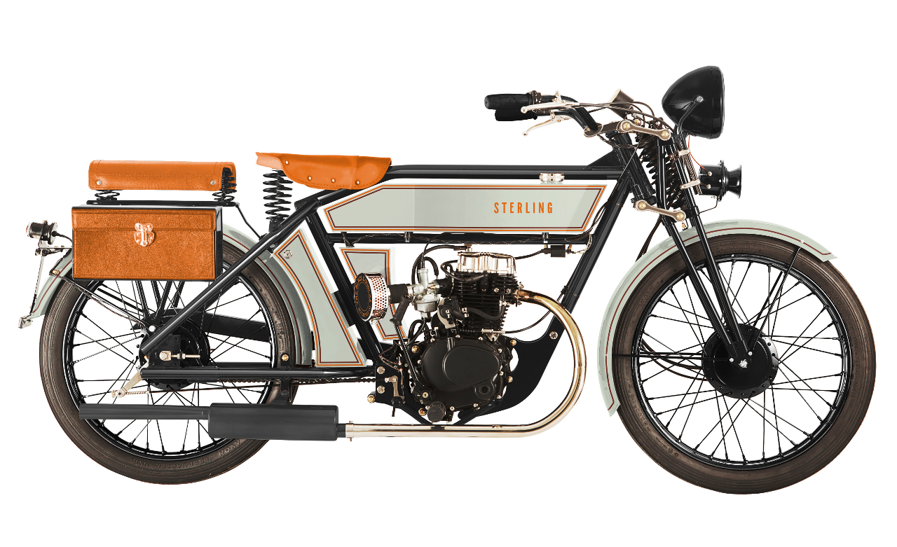 """This is the """"Silent Gray"""" variant of the Sterling, reminiscent of a twenties navy ship. (Picture courtesy The Black Douglas Motorcycle Company)."""