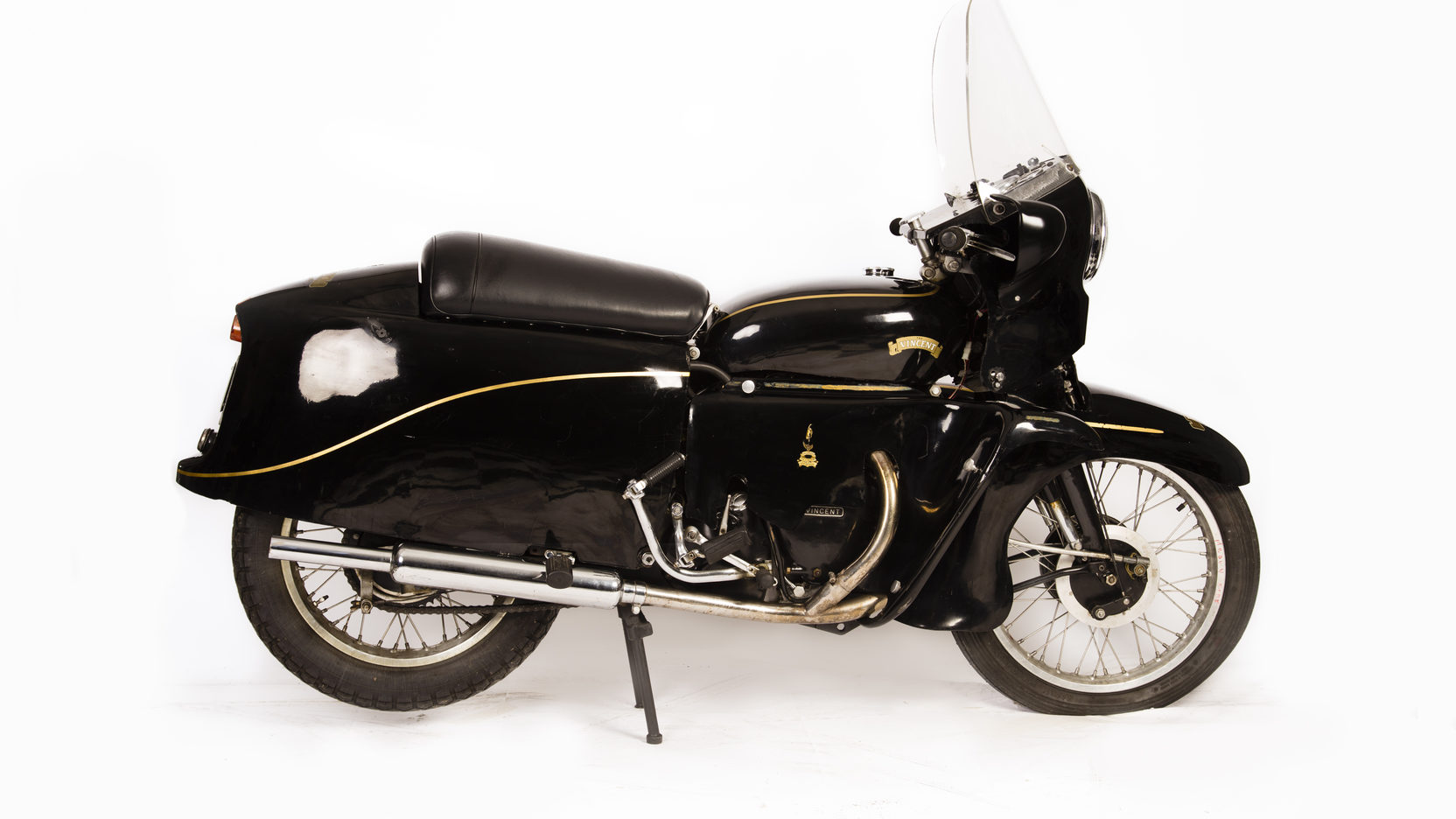 The Vincent Black Prince looks suspiciously like a police motorcycle and this may have been Phil Vincent's thinking.