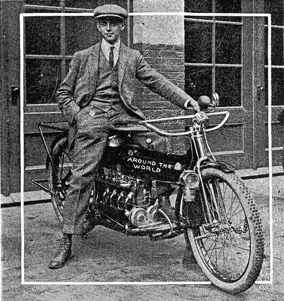 It was not long after the Henderson Four was placed into production that a young man named Carl Stearns Clancy heard about it and decided to choose a Henderson Four for his pioneering around the world motorcycle journey. (Picture courtesy cdn.drivemag.net).