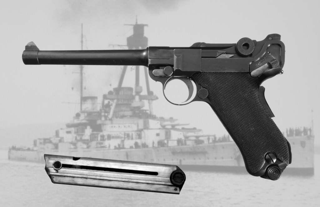 The original Luger P04 Navy model has a grip safety. (Picture courtesy Wikipedia).