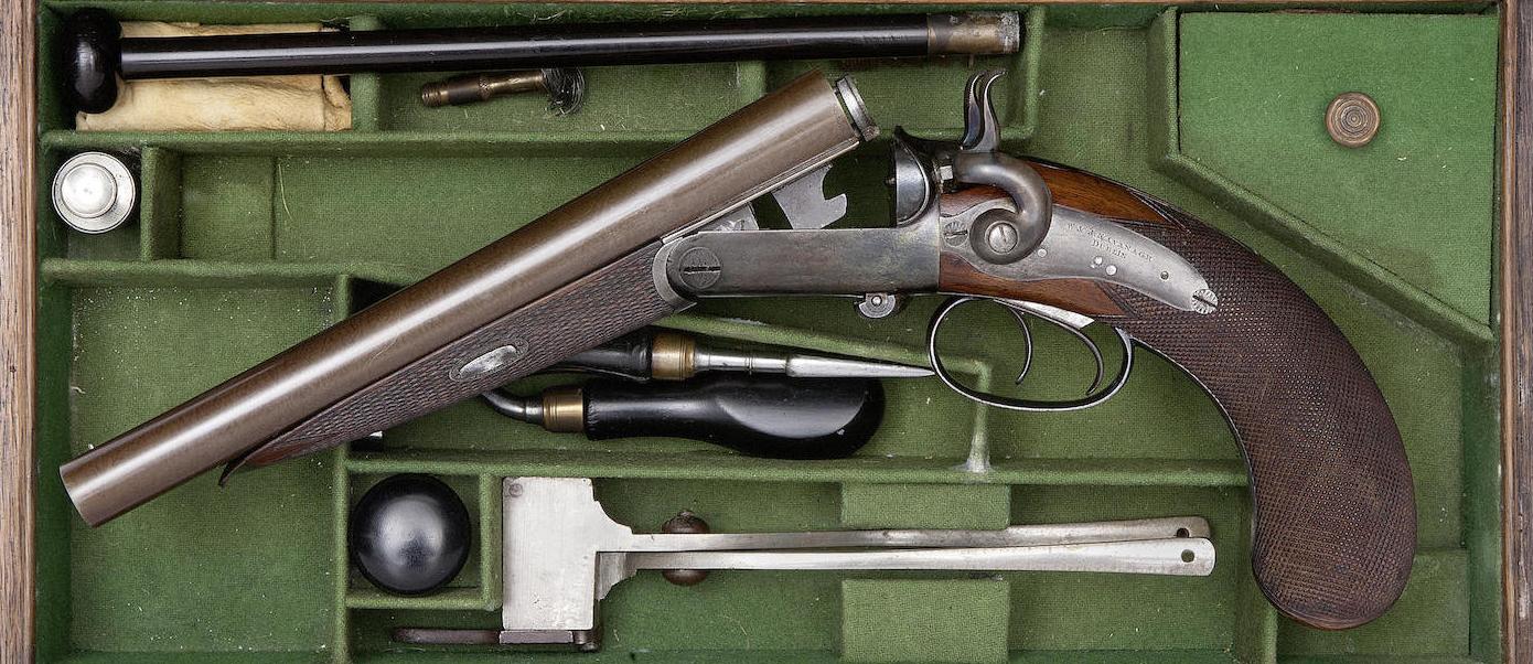 577 Double Barrel Howdah Pistol - Revivaler