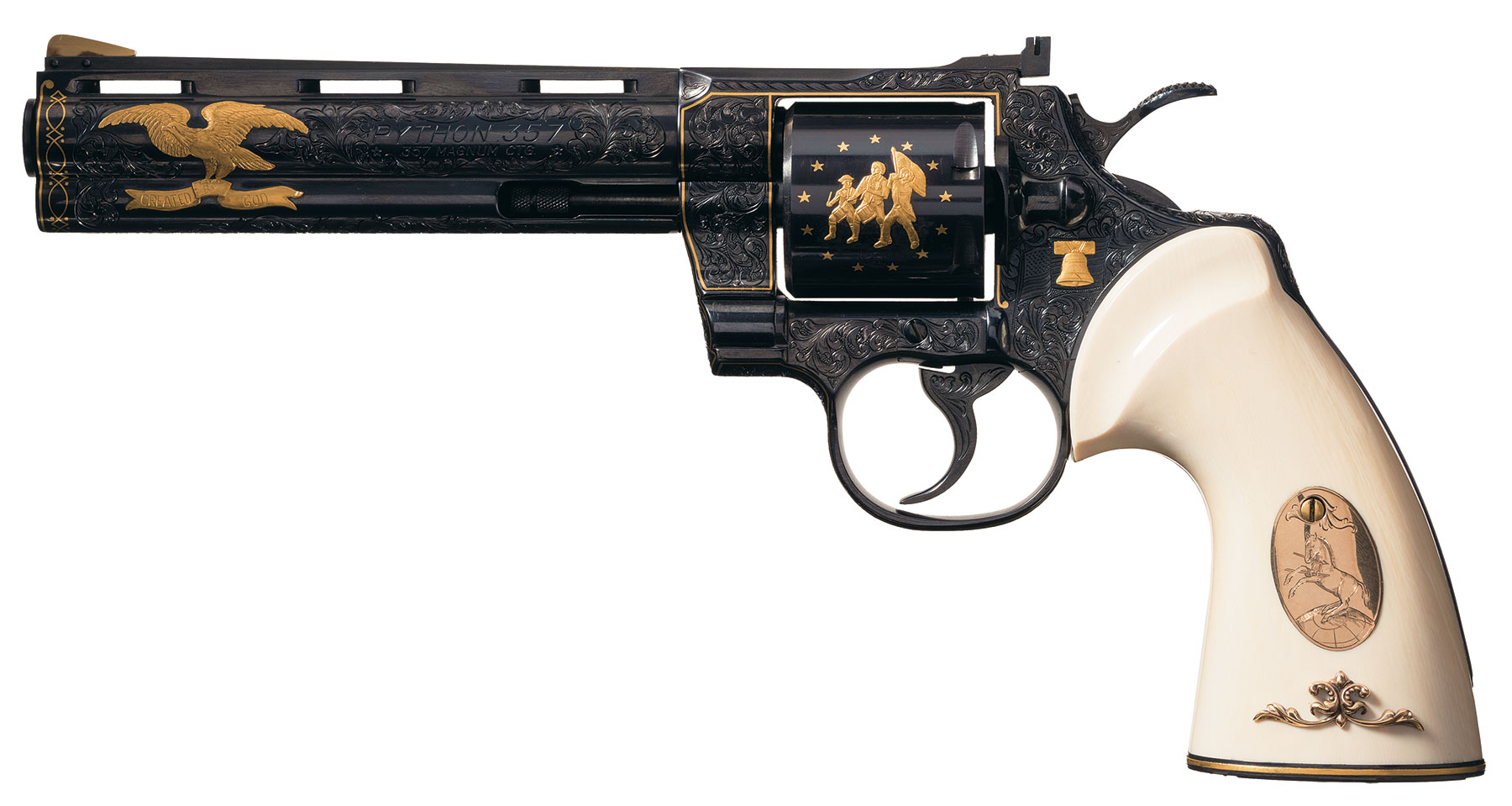 Colt Python Revolver Signed Howard Dove - Revivaler