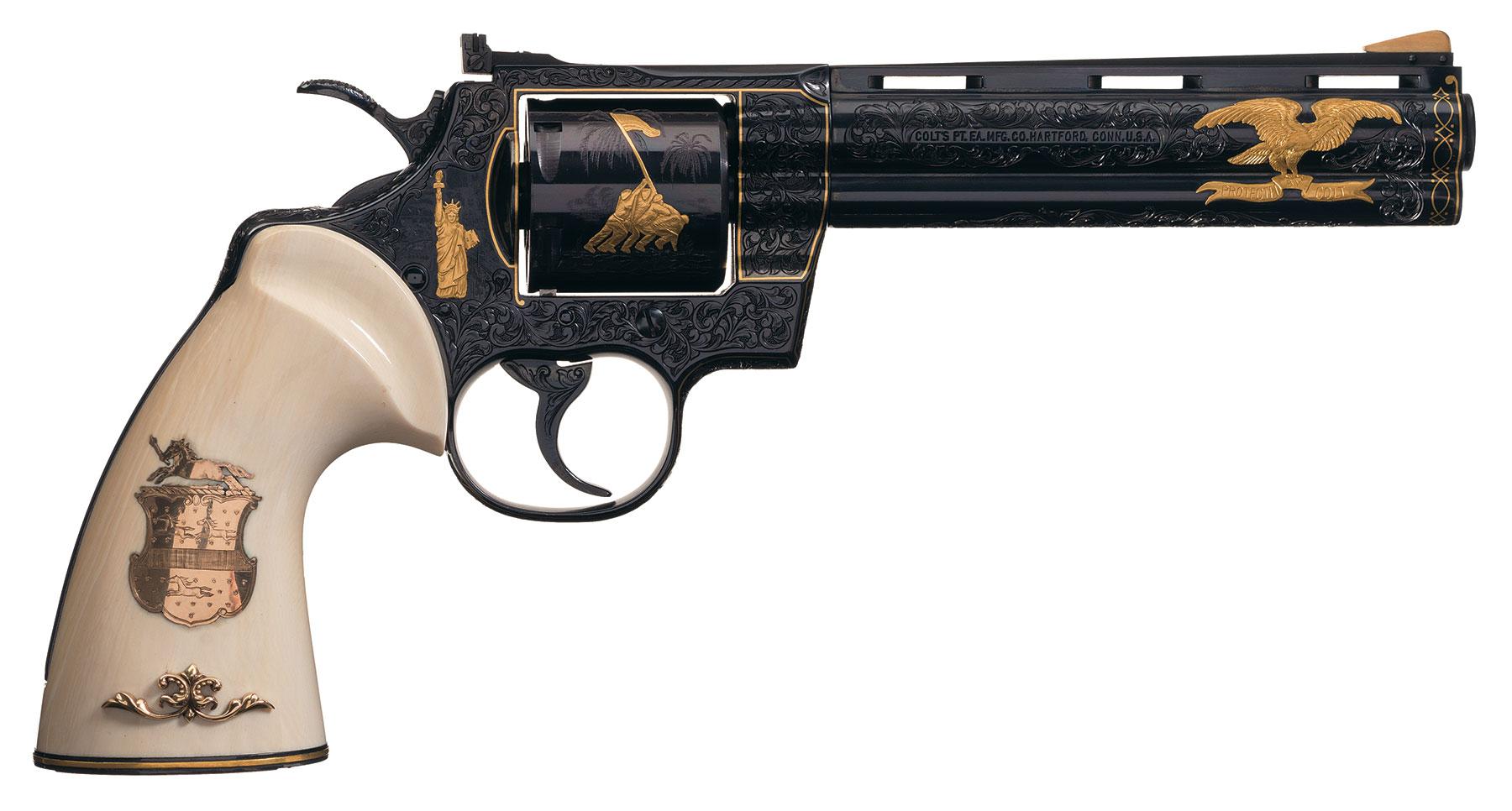 New Military Guns >> Colt Python Revolver Signed Howard Dove - Revivaler