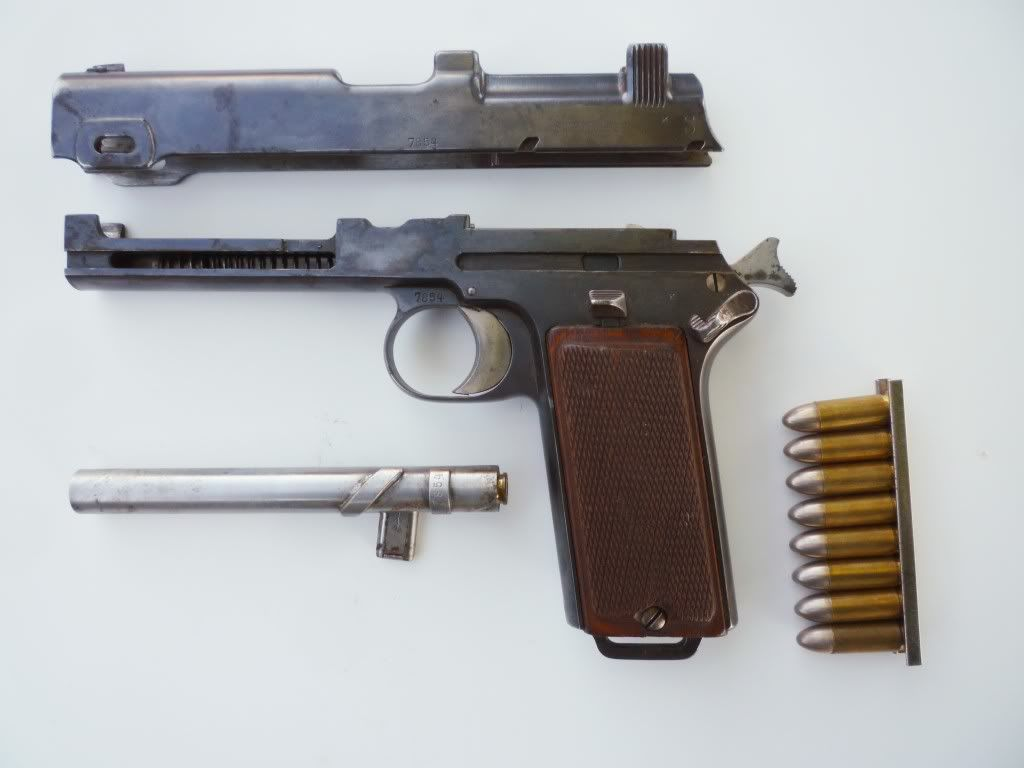 Steyr Model 1912 field stripped
