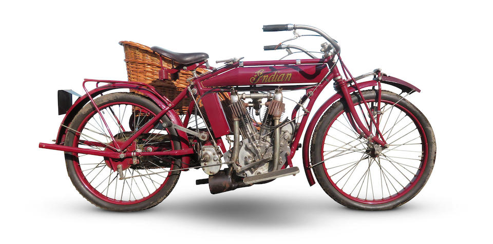 Indian 7hp Big Twin Motorcycle Combination 1913