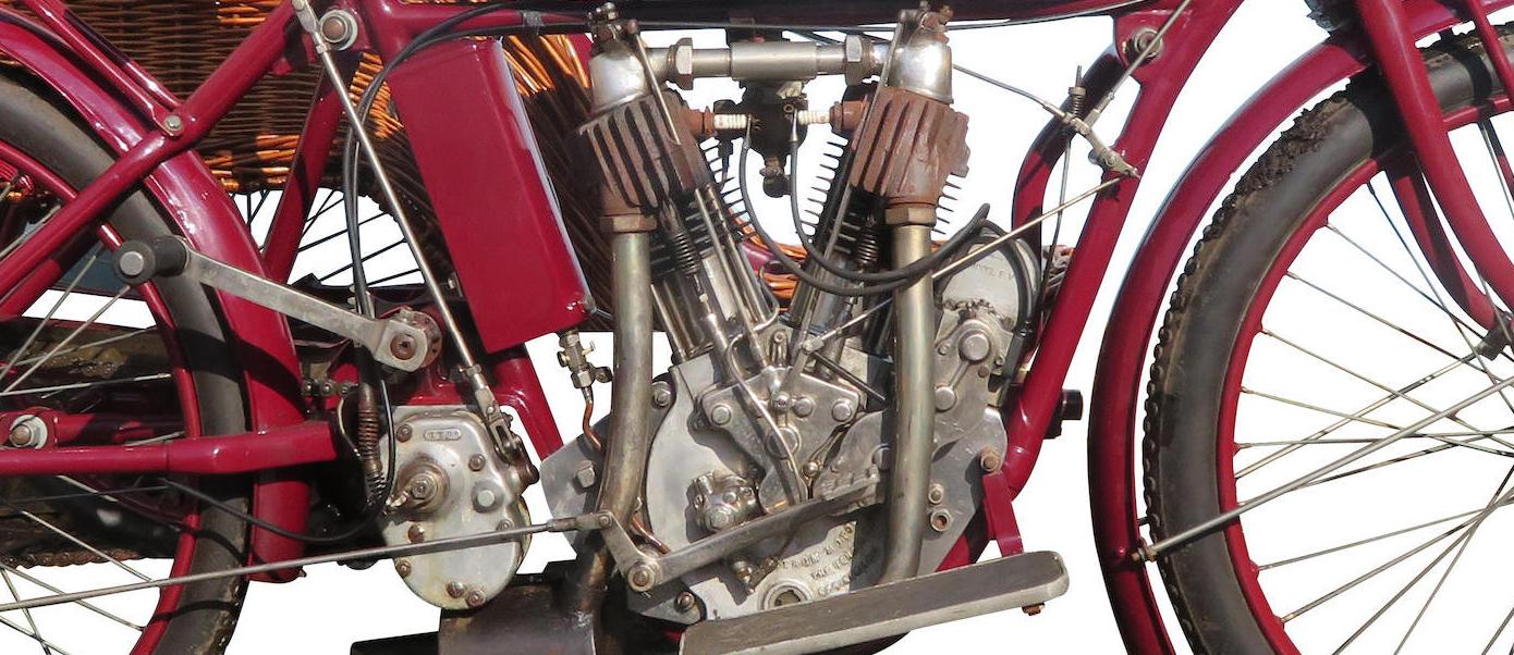 Indian 7hp Big Twin engine 1913