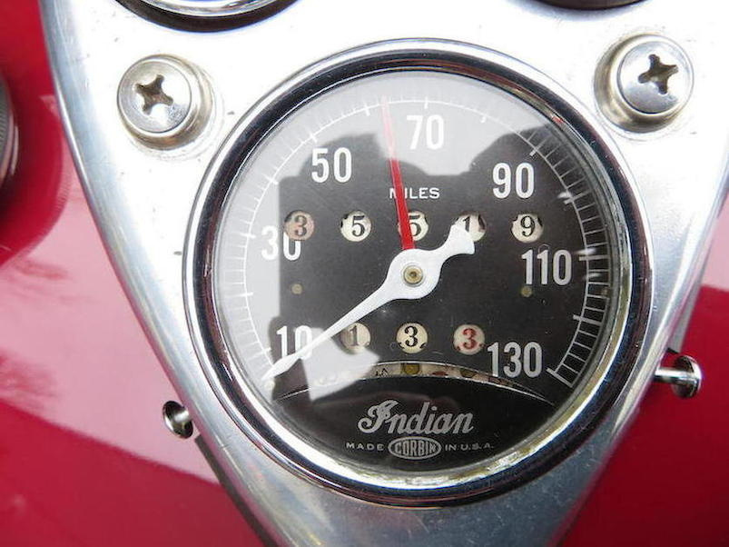 Indian Four speedometer