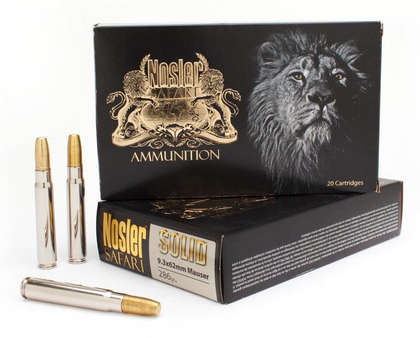 9.3x62 Nosler ammunition