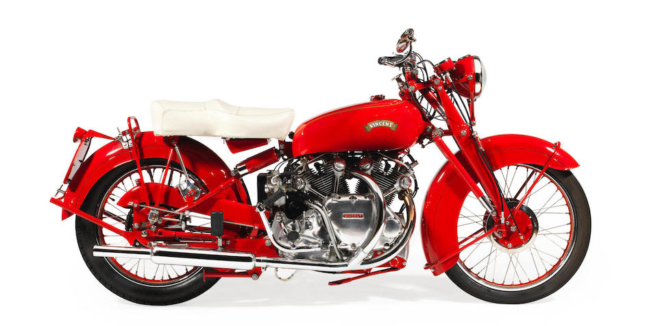 Vincent 998cc 'Chinese Red' Touring Rapide