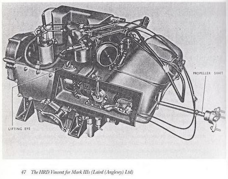 Vincent Uniflow two-stroke marine engine