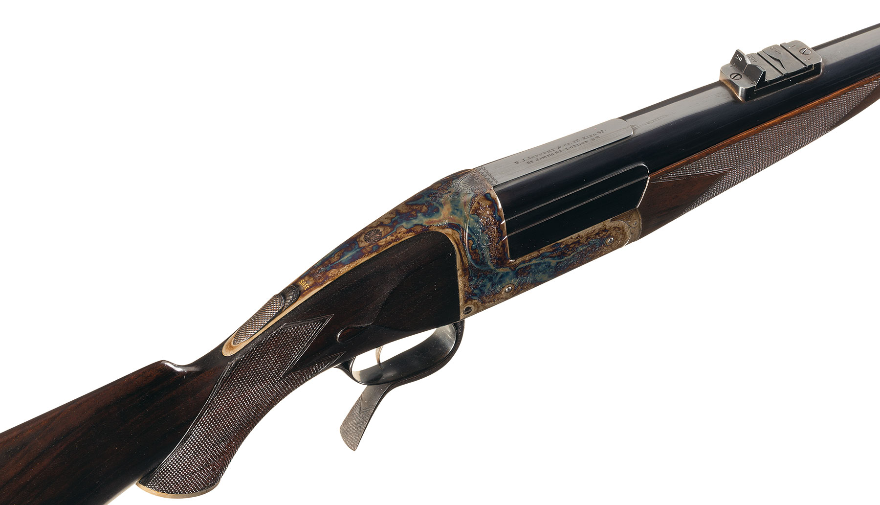 Jeffery under-lever single-shot rifle Anson & Deeley action