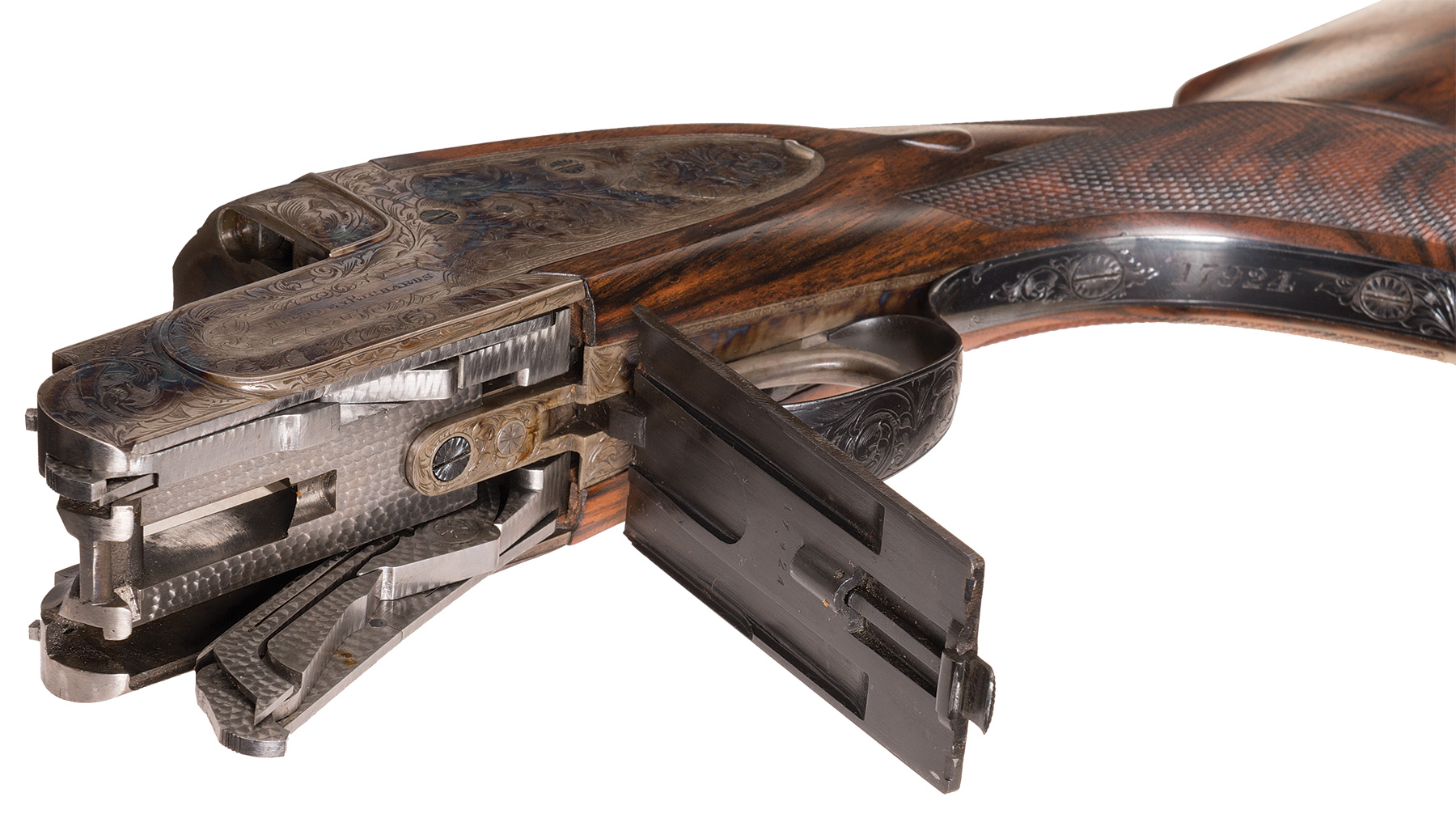 Westley Richards Ovundo droplock action floorplate open