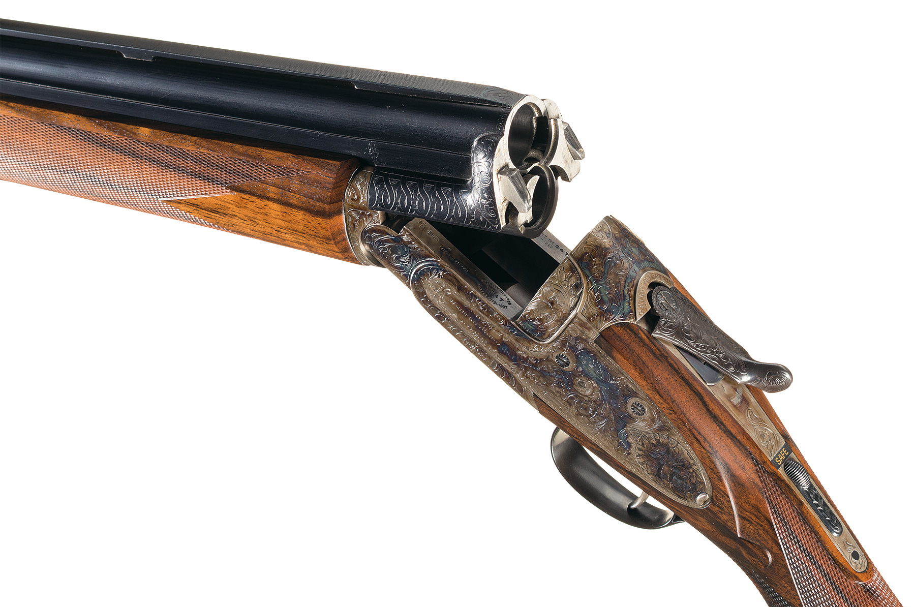 Westley Richards Ovundo gun action open