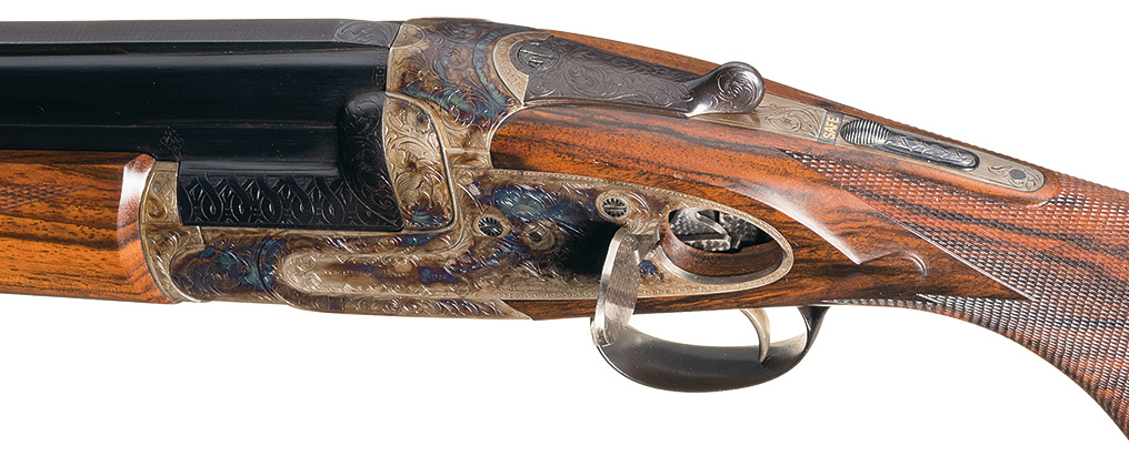Westley Richards Ovundo over and under gun opening side-plate