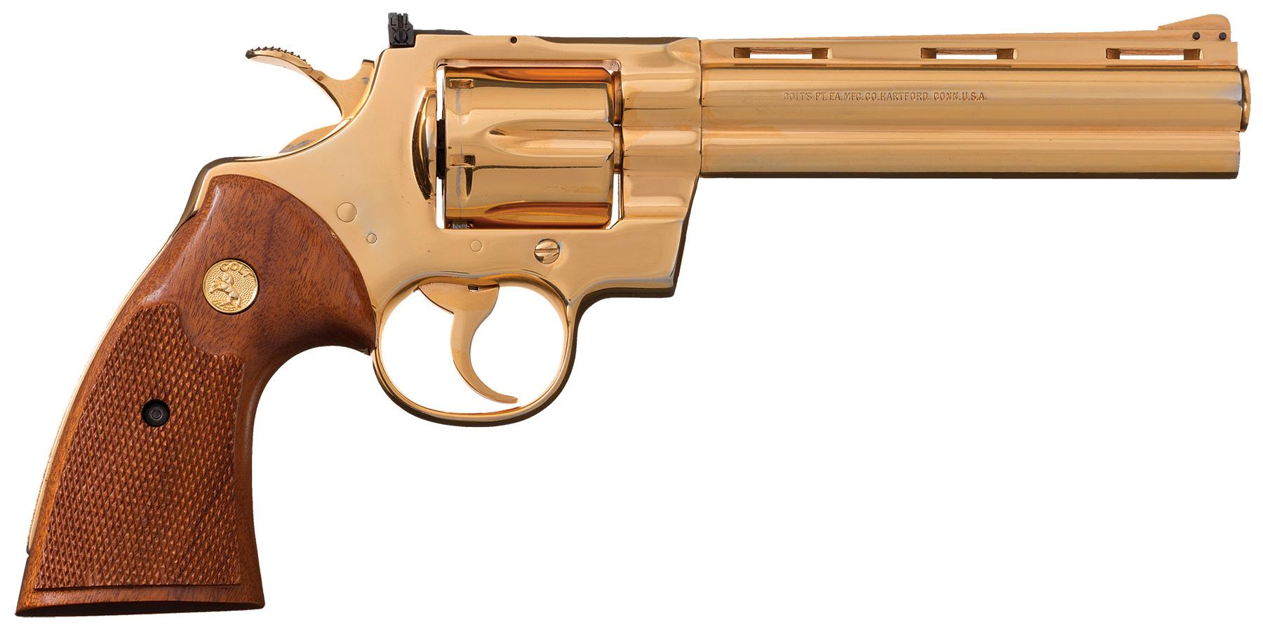 Gold plated Colt Python