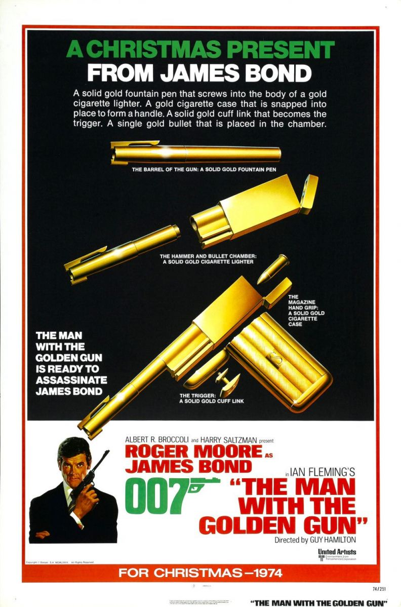 """the man with the golden gun"" ""Pistols"" Scaramanga's gun"