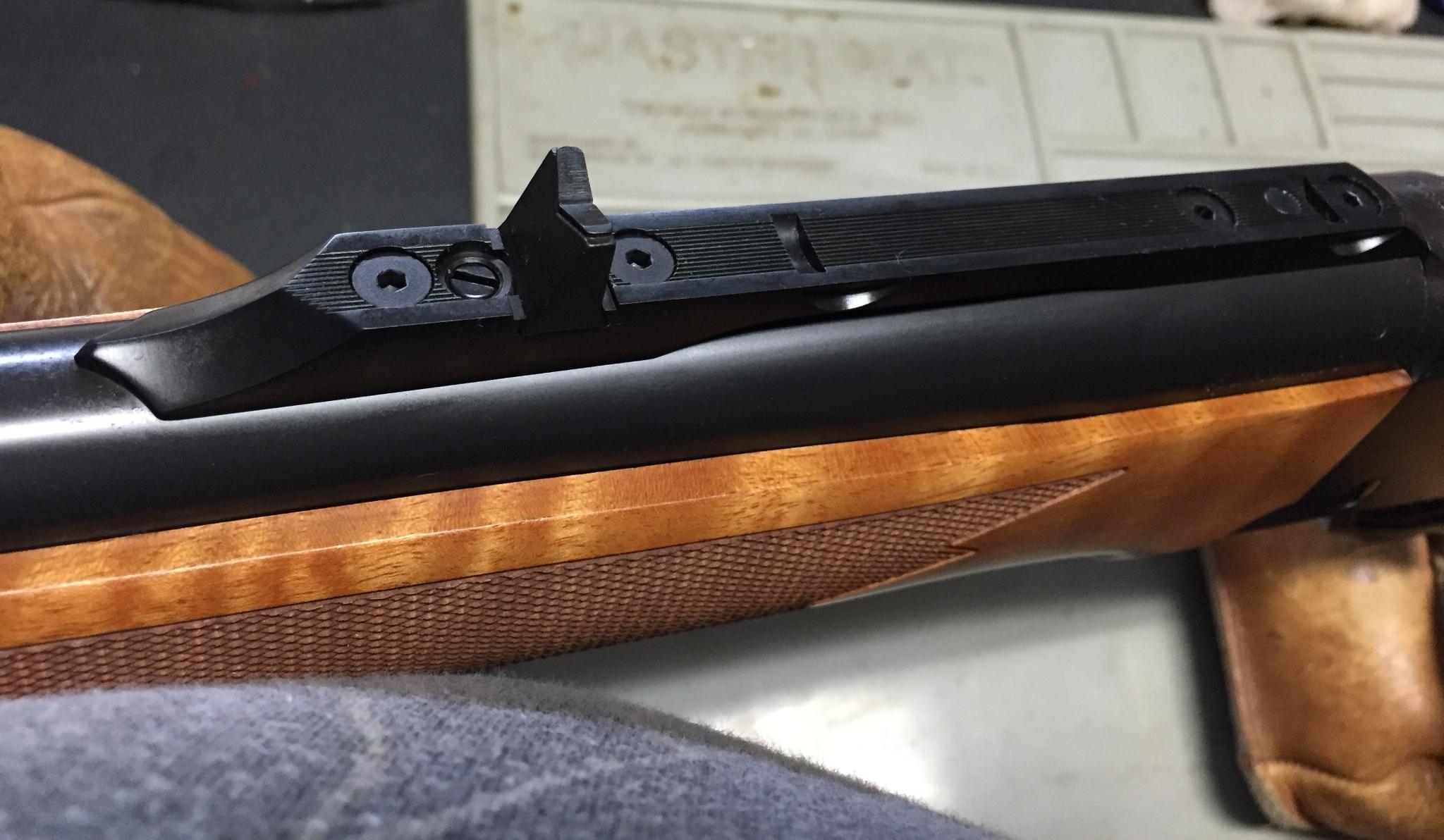 """Boddington Ruger No. 1 African Adventure Buffalo rifle rear-sight 450/400 3"""" Nitro Express"""