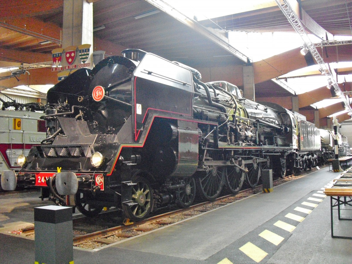 SNCF 241P steam locomotive National Railway Museum Mulhouse France