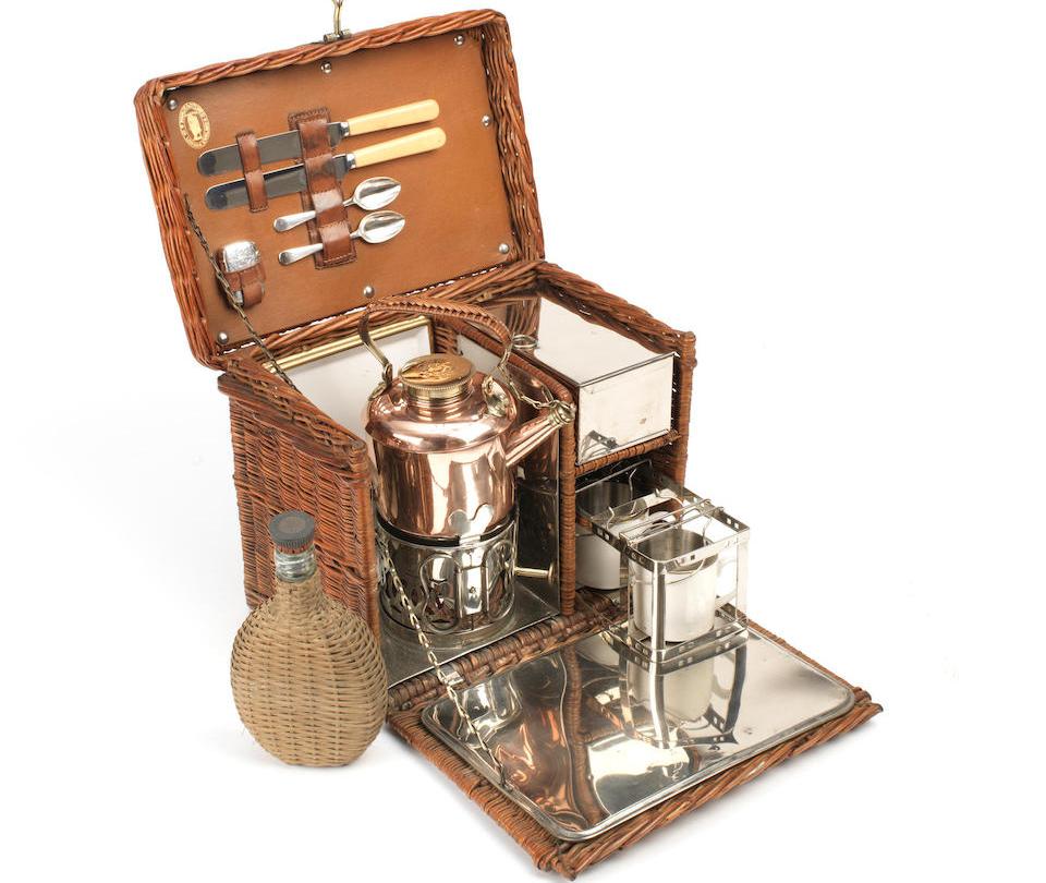 Wicker-Cased 'Coracle' Tea Set