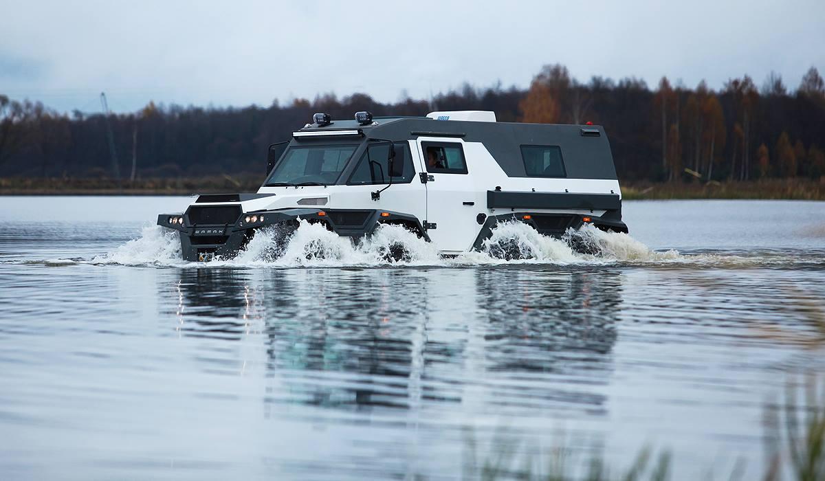 Avtoros Shaman amphibious vehicle