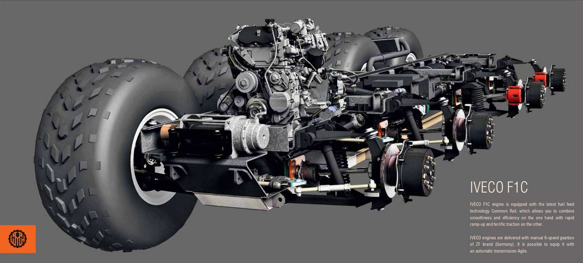 Avtoros Shaman chassis suspension engine